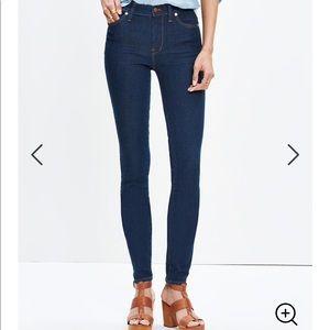 "MADEWELL 9"" High-Rise Skinny Jeans in Davis Wash"